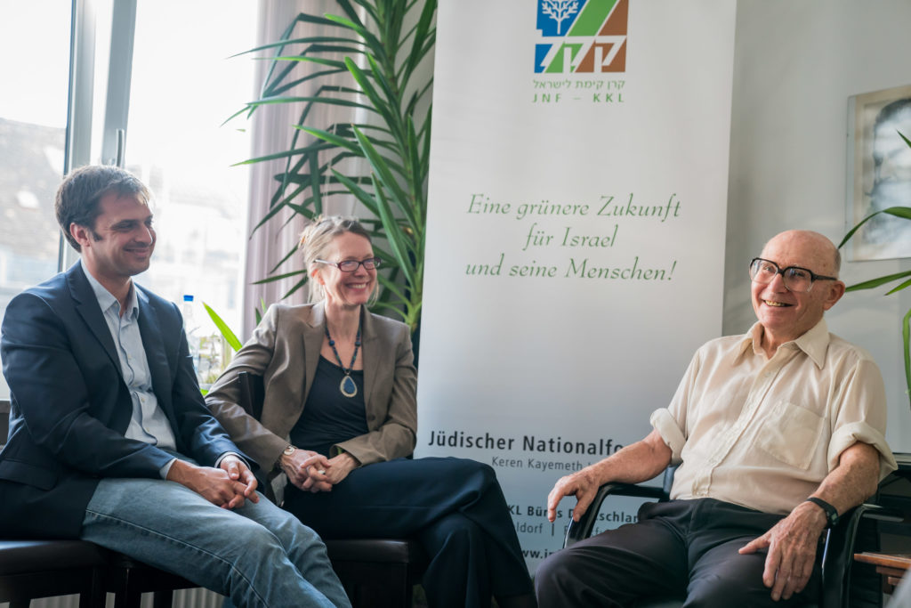 JNF-KKL: Johannes Guagnin, Katja Tsafrir und Shaul Ladany